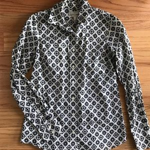 J Crew Perfect button down shirt size 0
